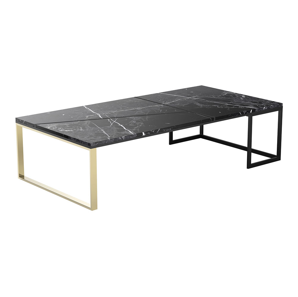 Hialeah Rectangle Coffee Table Black Marble
