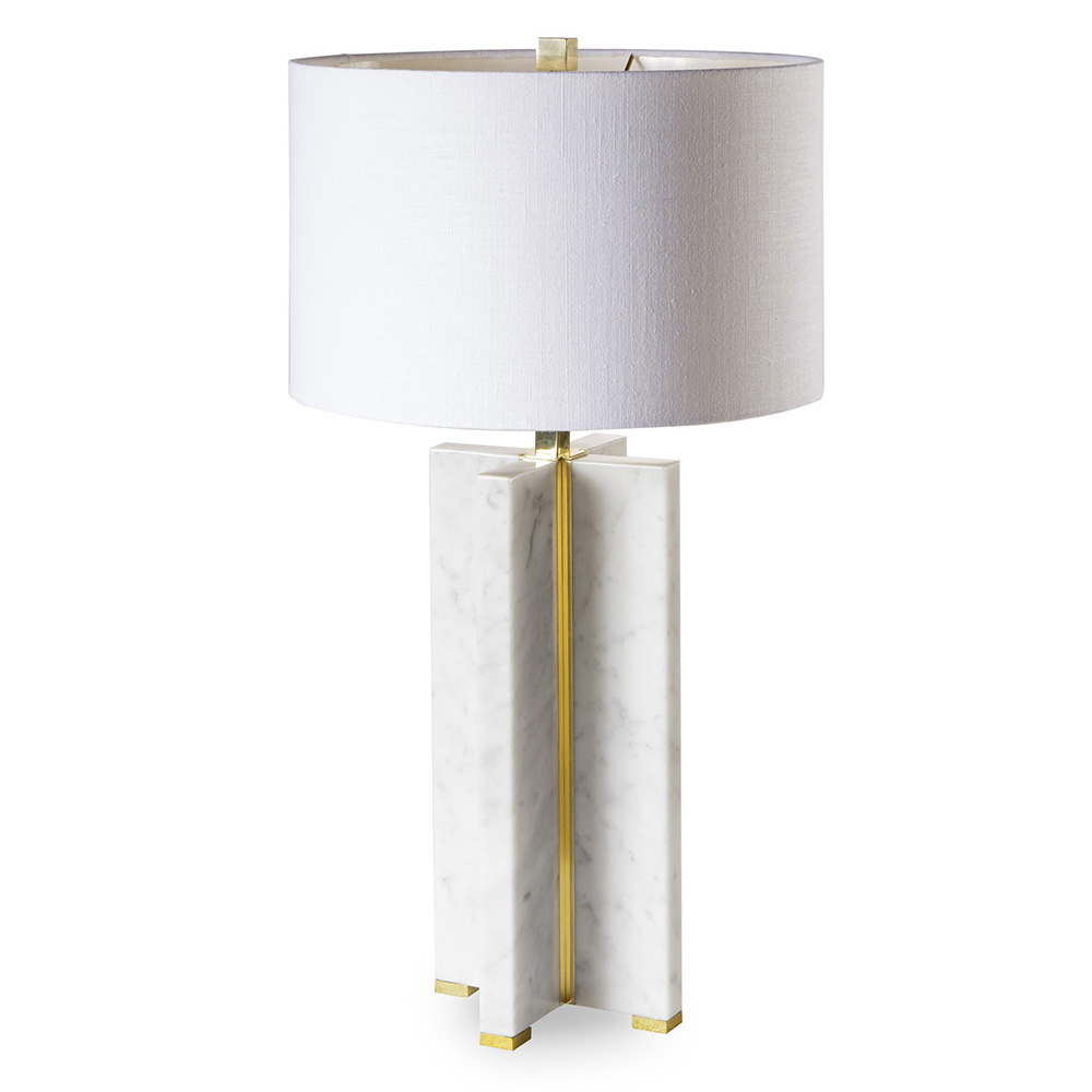 Marble Table Lamp   Cross