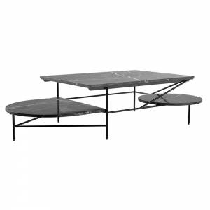 Mociun Coffee Table - Black Marble, Black