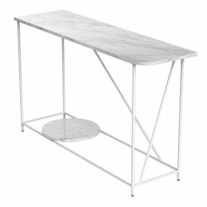 Mociun Console Table - White Marble