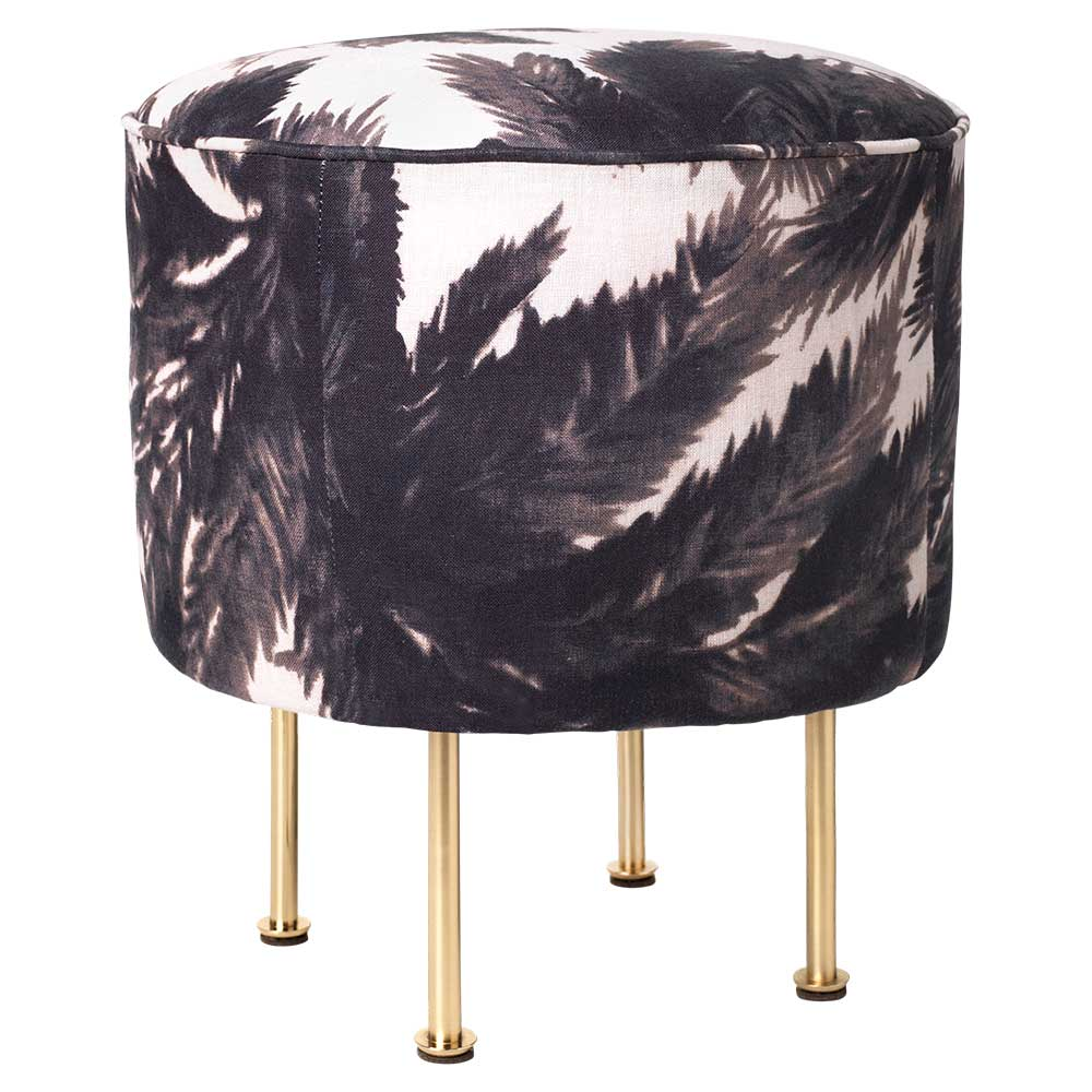 Modern Line Pouf Small Mauritius Brass Rouse Home