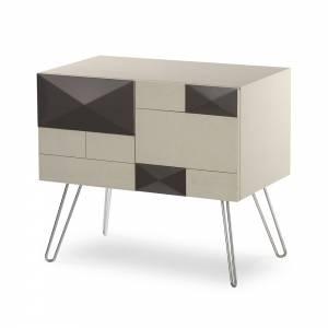 Mondrian Square Bedside Cabinet