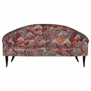Paradiset Sofa - Broderie Le Rocher, Black Stained Beech