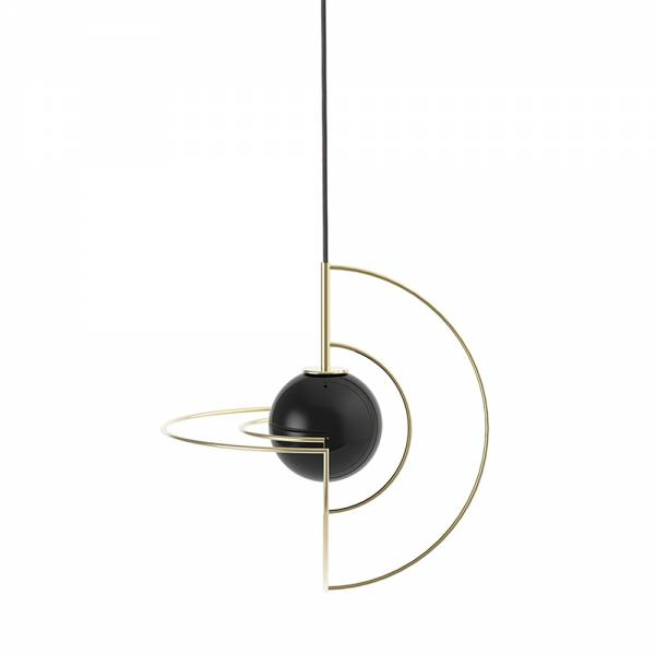 Small Gold Galatea - Black Globe | Rouse Home