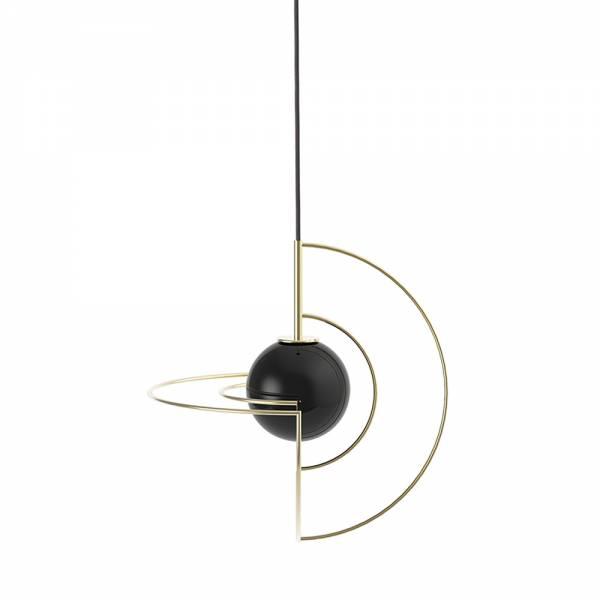 Small Gold Galatea - Black Globe | Rouse Home