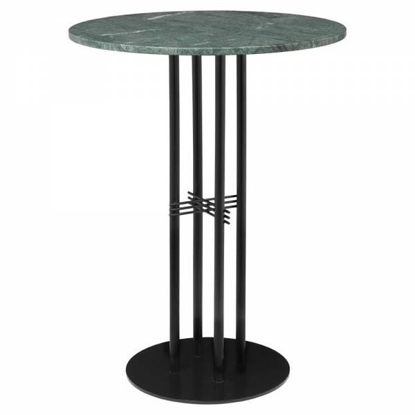 TS Column Bar Table - Green Marble, Black   Rouse Home
