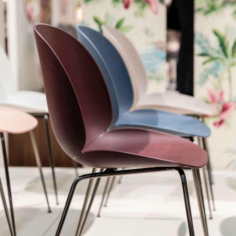 Brilliant Beetle Unupholstered Dining Chair Dark Pink Black Chrome Base Onthecornerstone Fun Painted Chair Ideas Images Onthecornerstoneorg