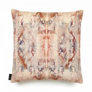 Blotto Antique Cotton Velvet Cushion - Square