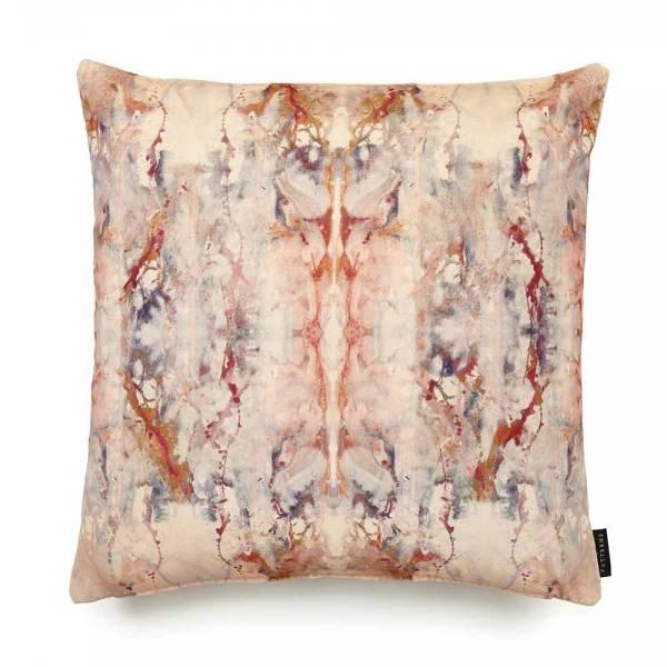 Blotto Antique Cotton Velvet Cushion - Square