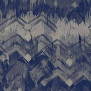 Brushed Herringbone Wallpaper - Blue