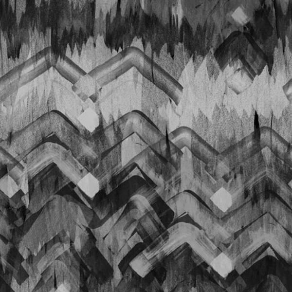 Brushed Herringbone Wallpaper - Charcoal