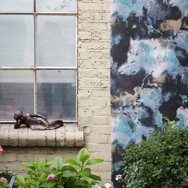 Cloudbusting Wallpaper - Blue