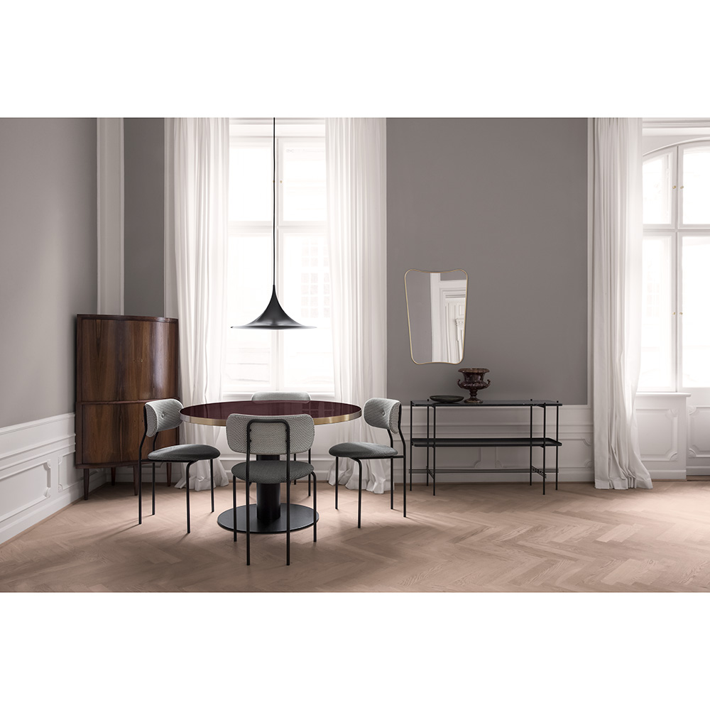 low priced 6fefc daa21 Coco Dining Chair - Gray, Black Base