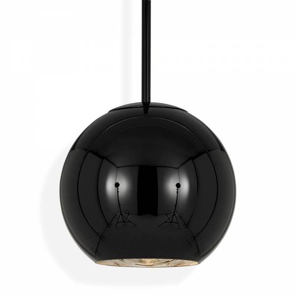 Copper Round Pendant - Black | Rouse Home
