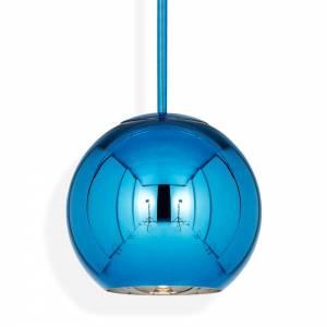 Copper Round Pendant - Blue