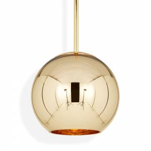 Copper Round Pendant - Gold