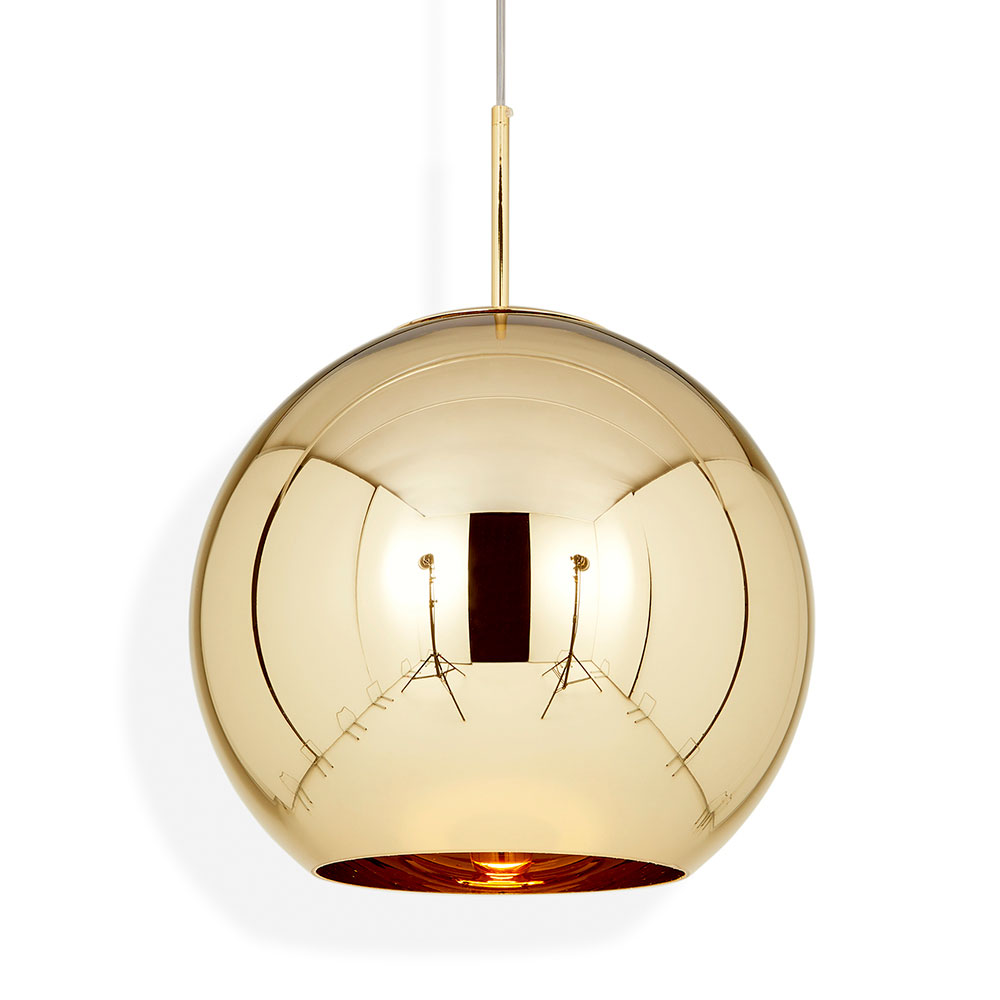 Copper Round Pendant Gold Rouse Home