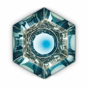 Cut Surface Light - Blue