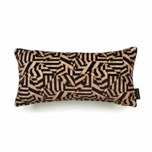 Dazzle Antique Cotton Velvet Cushion - Lumbar