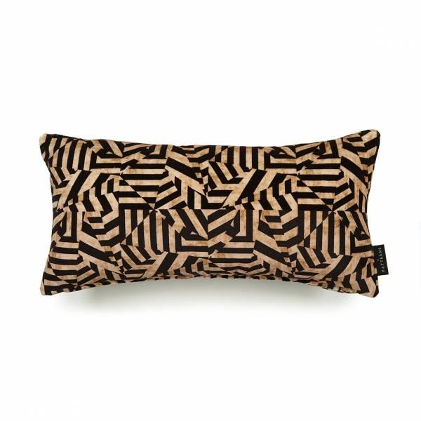 Dazzle Antique Cotton Velvet Cushion - Lumbar
