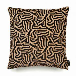 Dazzle Antique Cotton Velvet Cushion - Square