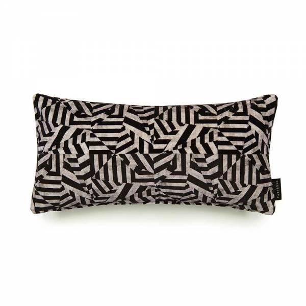 Dazzle Black Cotton Velvet Cushion - Lumbar