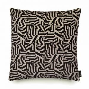 Dazzle Black Cotton Velvet Cushion - Square