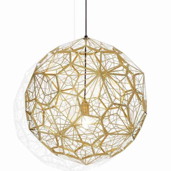 Etch Web Pendant - Brass | Rouse Home