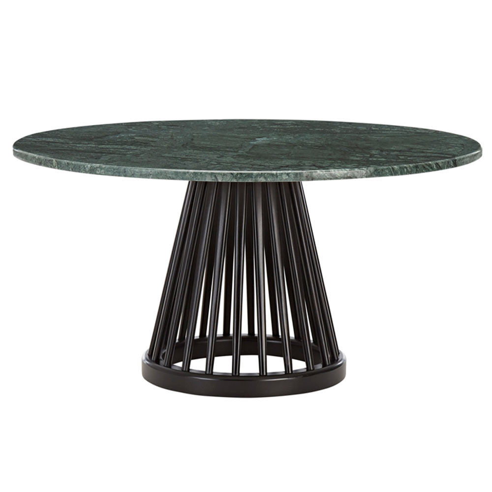 Green Marble Top, Black Base