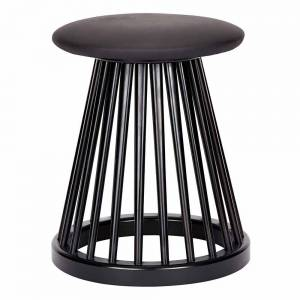 Fan Stool - Black Stained Ash