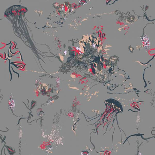 Jellyfish Wallpaper - Gray
