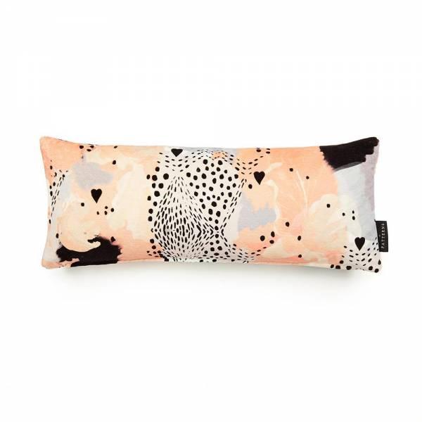Leopard Love Peach Cotton Velvet Cushion - Lumbar