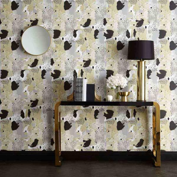 Love Leopard Wallpaper - Caramel