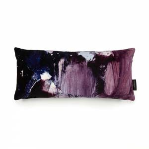 Nebulous Violet Cotton Velvet Cushion - Lumbar