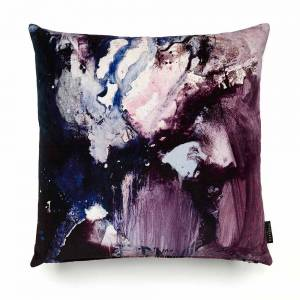 Nebulous Violet Cotton Velvet Cushion - Square