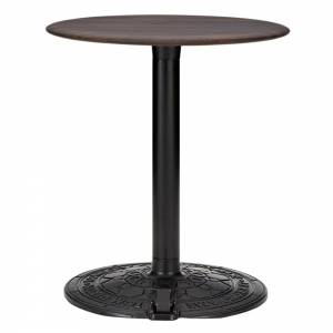 Roll Small Round Cafe Table - Fumed Oak