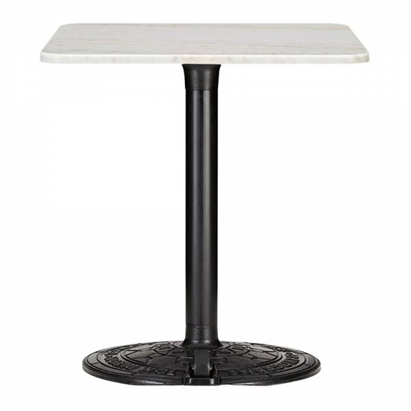 Roll Square Cafe Table - White Marble | Rouse Home