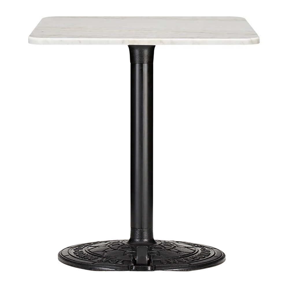 roll square cafe table white marble rouse home rh rousehome com white cafe table hire white cafe table tops