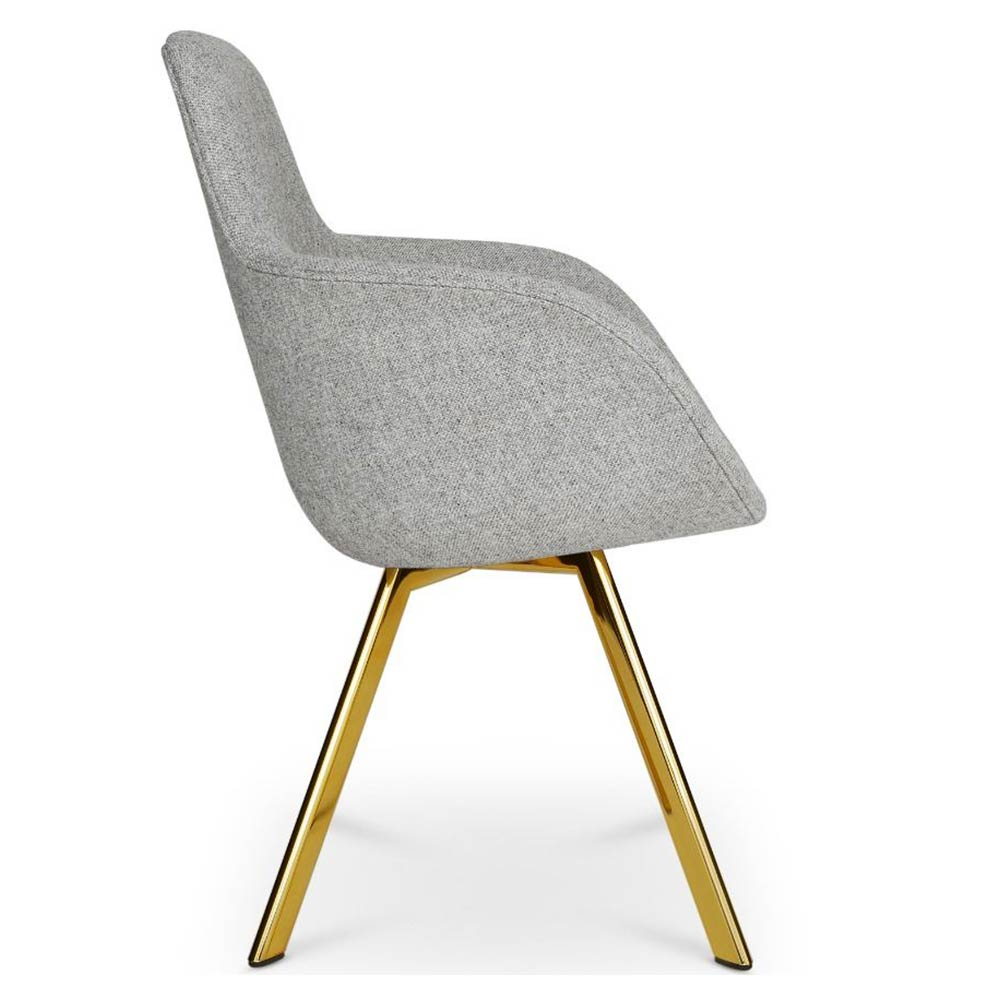 Surprising Scoop Dining Chair High Back Gray Hallingdal 0130 Brass Legs Ncnpc Chair Design For Home Ncnpcorg