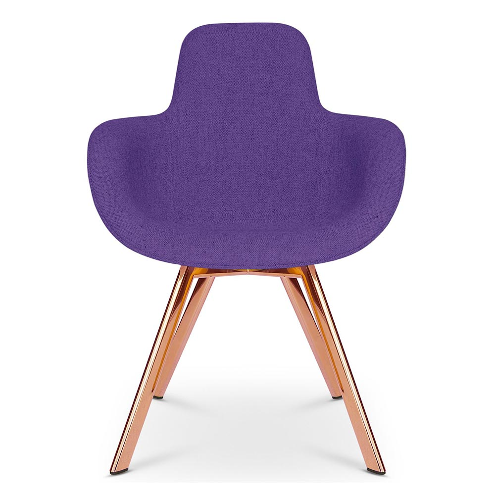 Scoop Dining Chair High Back Purple