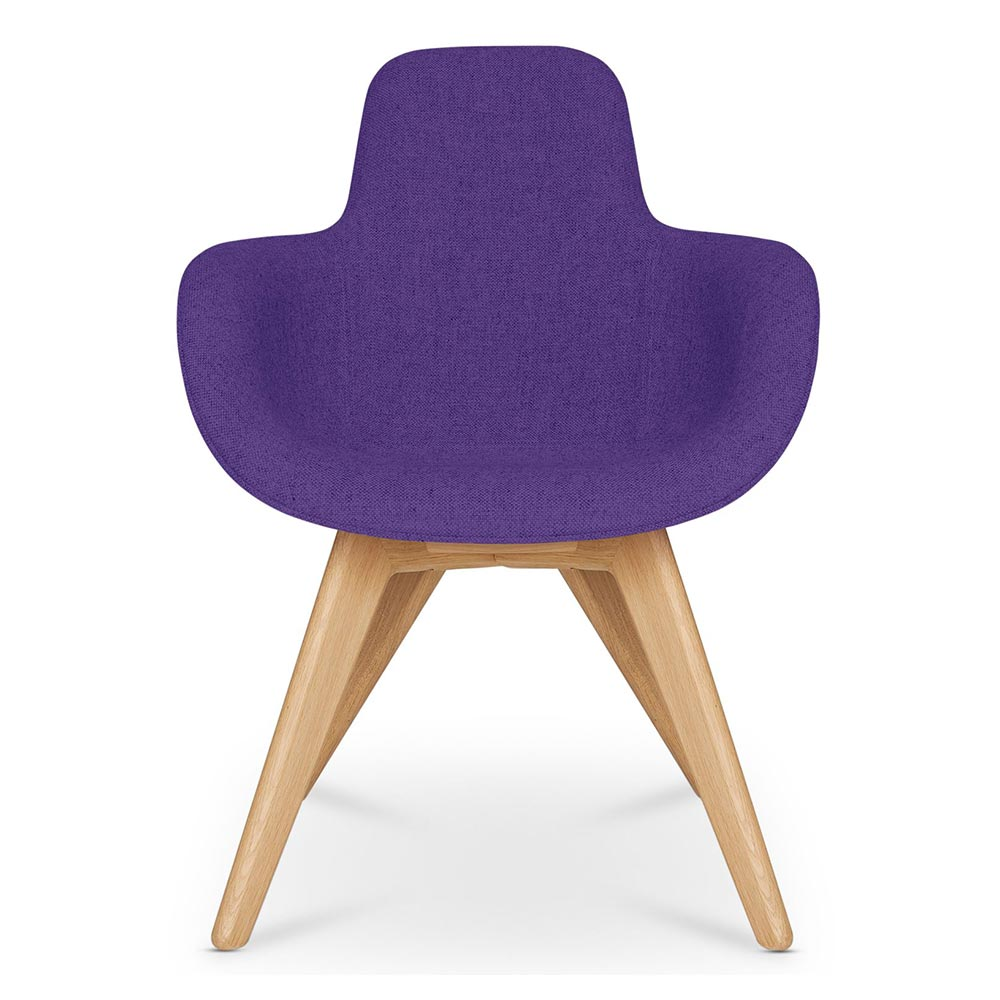 Etonnant Scoop Dining Chair High Back   Purple Hallingdal 0702, Natural Legs