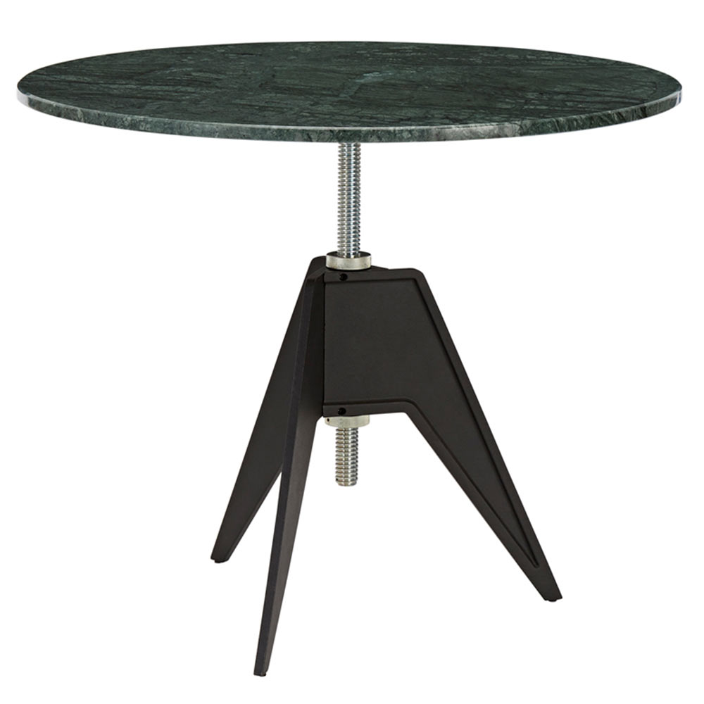 Screw Large Round Cafe Table Green Marble Rouse Home - Round marble cafe table