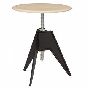 Screw Small Round Cafe Table - Natural Birch