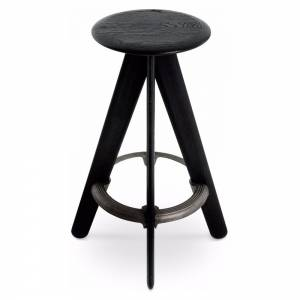 Slab Bar Stool - Black Oak
