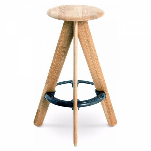 Slab Bar Stool - Natural Oak