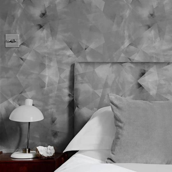 Spiral Chaos Wallpaper - Smoked Gray