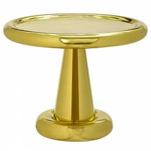 Spun Short Side Table - Brass