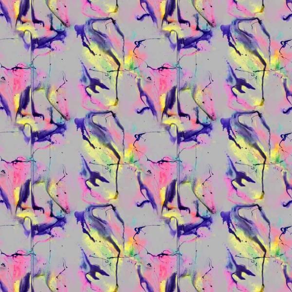 Whirling Dervish Wallpaper - Gray 3 Panels