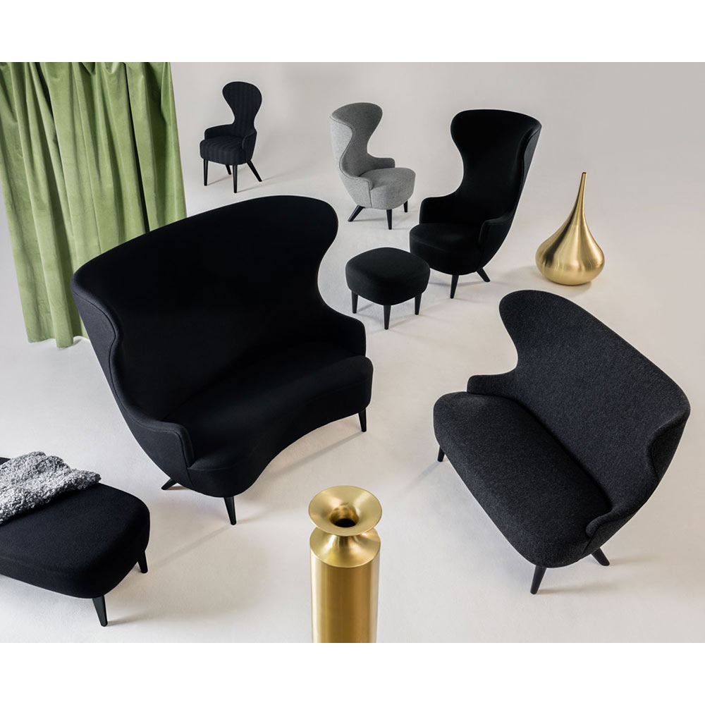 Stupendous Wingback Chair Blue Tonus 4 0210 Brass Legs Alphanode Cool Chair Designs And Ideas Alphanodeonline