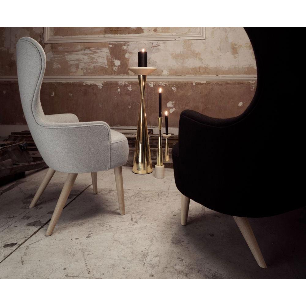 Stupendous Wingback Dining Chair Black Hallingdal 0190 Black Oak Legs Pabps2019 Chair Design Images Pabps2019Com